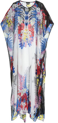 Just Cavalli Floral-print Georgette Kaftan