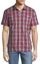 John Varvatos Plaid Short-Sleeve Sport Shirt