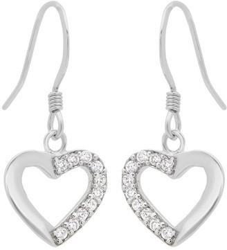 Roberto Martinez Sterling Silver Cubic Zirconia Heart Earring