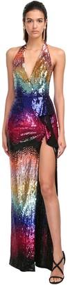 ZUHAIR MURAD Rainbow Sequined Dress