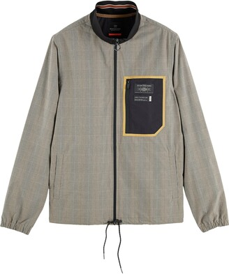 Scotch & Soda Lightweight Glen Plaid Track Jacket