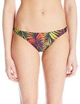 Milly Women's Palm Print Italian Swim St. Lucia Bikini Bottom