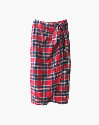 Madewell NICO NICO Lauper Plaid Wrap Skirt