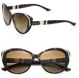 Bvlgari Embellished 57MM Cat's-Eye Sunglasses