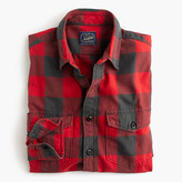 J.Crew Slim midweight flannel shirt in red buffalo check