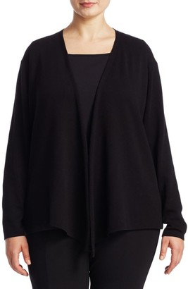 Nic + Zoe, Plus Size Open-Front Cardigan
