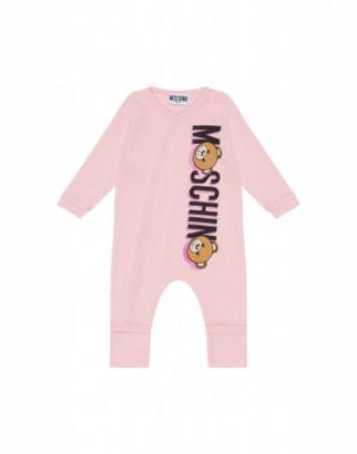 Moschino Teddy Logo Onesie Unisex Pink Size 1/3m It