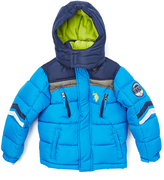 U.S. Polo Assn. Blue Tile & Classic Navy Chevron Puffer Coat - Boys