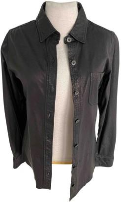 Equipment Black Leather Jacket for Women