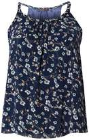 **Tenki Blue Strappy Floral Cami Top