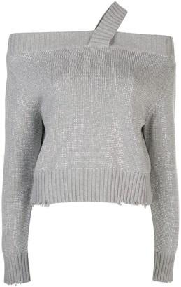 RtA Beckett sequinned sweater