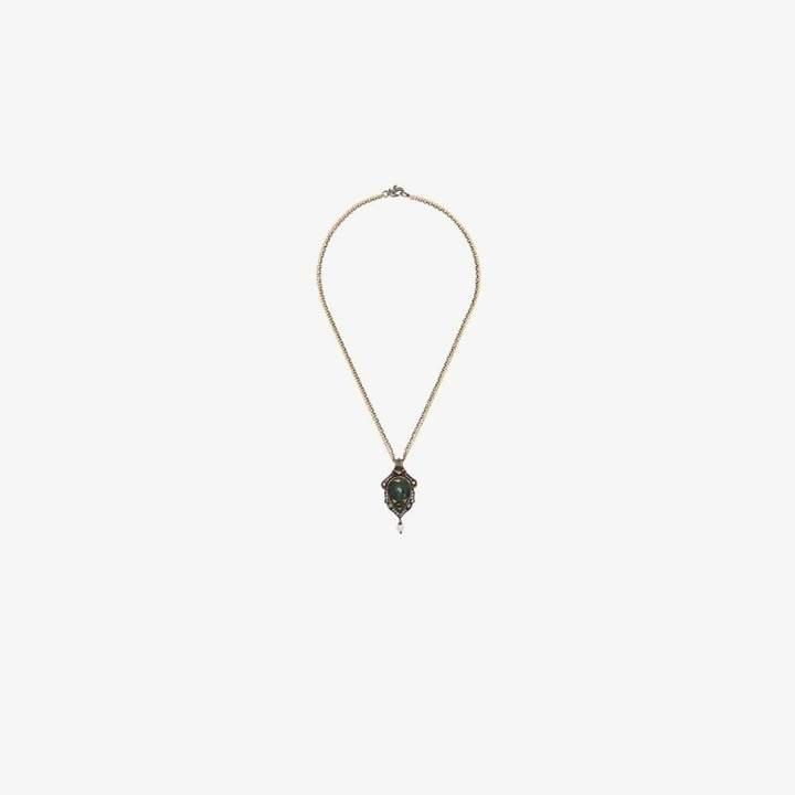 Sevan Biçakci 24K gold teardrop pearl necklace