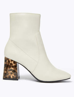 M&S CollectionMarks and Spencer Flared Block Heel Ankle Boots
