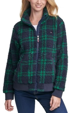 Tommy Hilfiger Plaid Fleece Jacket