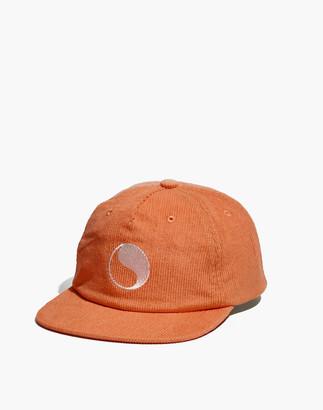 Madewell x Free & Easy Yin-Yang Embroidered Corduroy Baseball Cap