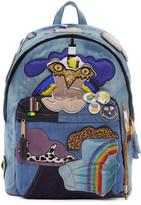 Blue Julie Verhoeven Edition Biker Denim Backpack