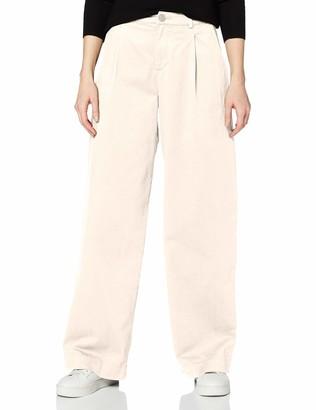 Meraki Amazon Brand Women's Wide Leg Chino Trouser