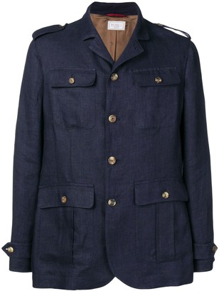 Brunello Cucinelli Straight-Fit Military Jacket