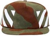 Off-White Stripes Camo Print Cotton Canvas Hat