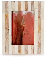 Handmade Bone Striped Photo Frame (4x6), 'Earth Shadow'