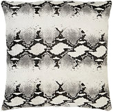 Barneys New York Snake-Print Cowhide-Front Pillow