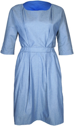 Format NEAT Blue Light Denim Dress - XS - Blue