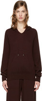 Helmut Lang Burgundy Cashmere Hoodie