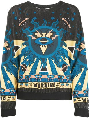 Just Cavalli Abstract Print Sweatshirt