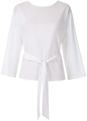 Andrea Marques belted wrap blouse