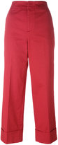 Pt01 flared cropped trousers - women - Cotton/Spandex/Elastane - 40