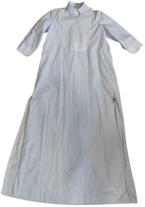 Thierry Colson Blue Cotton Dresses