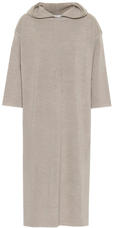 Max Mara Hooded wool sweater dress