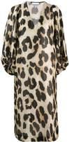 Ganni Leopard Print Shift Dress