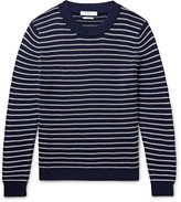 Sandro - Striped Textured-cotton Sweater