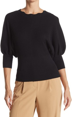 Laundry by Shelli Segal Scalloped Neck Dolman Sleeve Sweater
