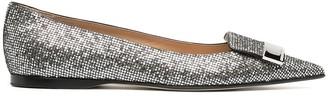 Sergio Rossi SR1 crystal-embellished ballerina shoes
