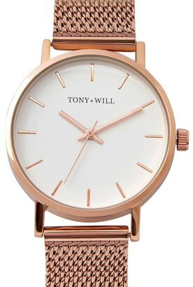 TONY+WILL Small Classic Rose Gold TWM004D Watch