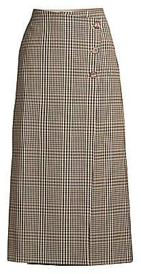 Lafayette 148 New York Women's Leyla Heritage Plaid Wrap Skirt
