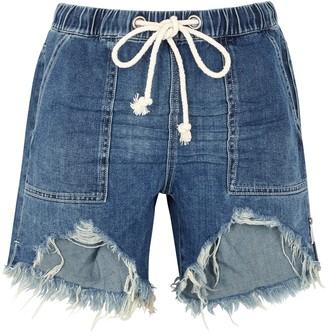 One Teaspoon Rodeo distressed denim shorts