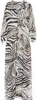 Roberto Cavalli Printed Silk-georgette Kaftan - Black