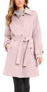 Michael Kors Michael Petite Single-Breasted Belted Coat