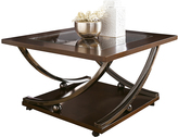 Signature Design by Ashley Dark Brown Rollins Square Coffee Table