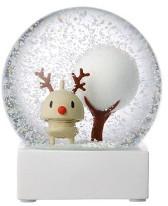 Hoptimist - Glass Rudolph Snow Globe - brown | glass - Brown/Brown