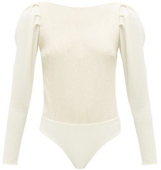 Johanna Ortiz Low-back Crinkled-crepe Bodysuit - Womens - Cream
