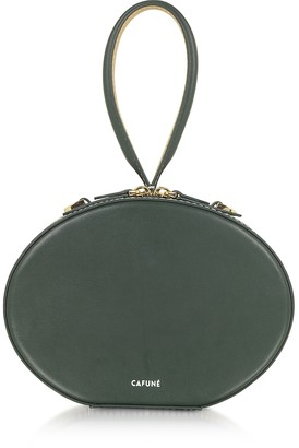 Cafune Forest Green Leather Egg Bag