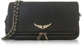 Zadig & Voltaire Black Leather Foldable Rock Clutch