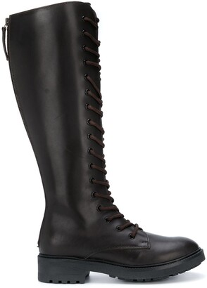 P.A.R.O.S.H. Lace-Up Knee-High Boots