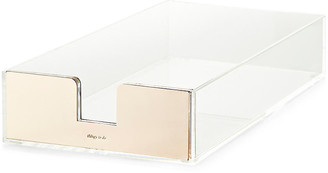 Kate Spade Acrylic Letter Tray clear/gold