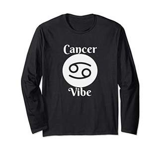 Cancer Vibe Horoscope Astrology Design Long Sleeve T-Shirt