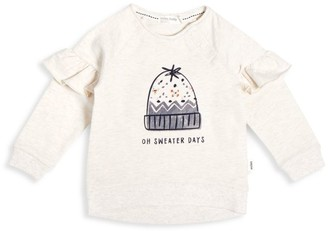 Miles Baby Little Girl's French Terry Holiday Sweatshirt